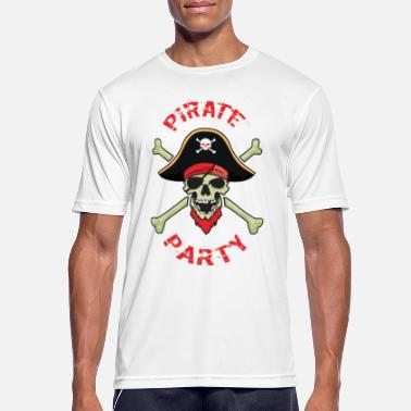 Pirate Party Pirate Party Skull And Bones - Men's Sport T-Shirt