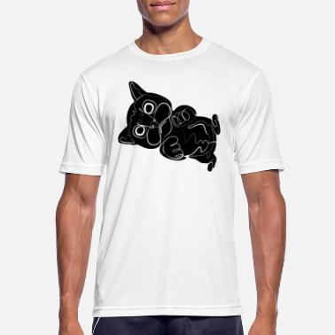 Schwarz kitten - Men's Sport T-Shirt