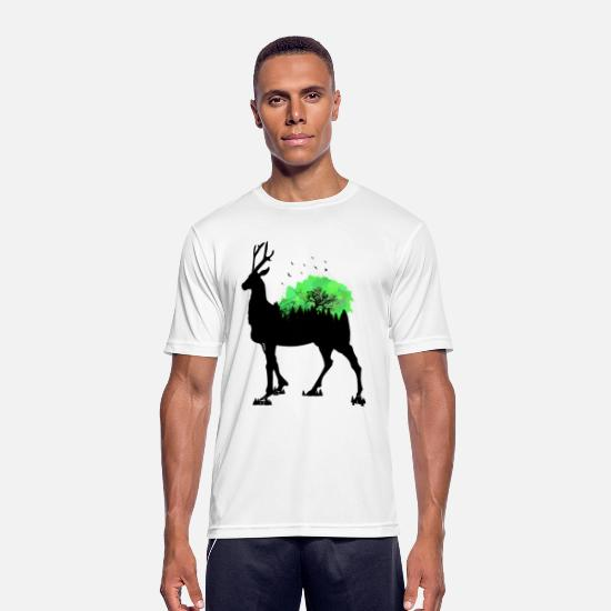 Stag T-Shirts - antler - Men's Sport T-Shirt white