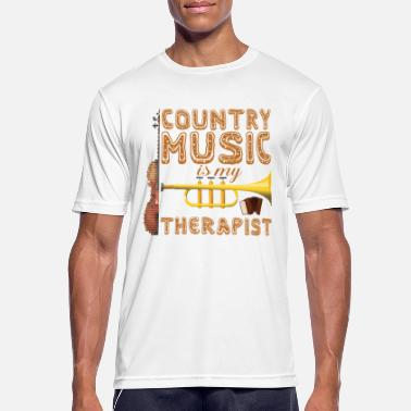 Countrymusic Country muziektherapeut - Mannen sport T-shirt