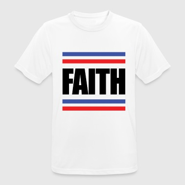 Faithful Faith - faith - Men's Breathable T-Shirt