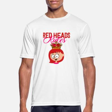 Pelirroja Redhead Red Hair Haircolor Red Hair - Camiseta deportiva hombre