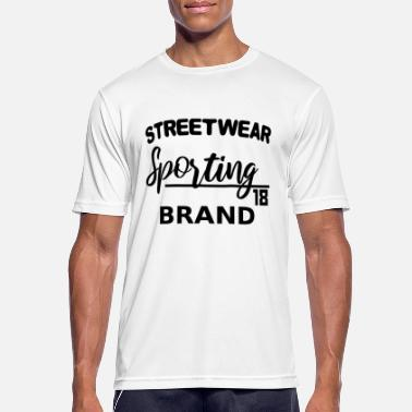 Sporting Streetwear Sporting Brand - lettrage noir - T-shirt respirant Homme