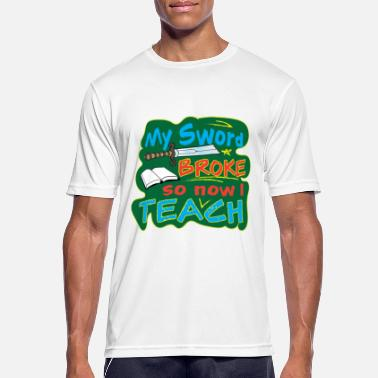 Sword Teacher fate sword broken warrior school - Men's Sport T-Shirt