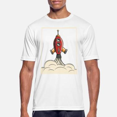 Jupiter Retro Rocket Time to the Galaxy Tee Shirt - Men's Sport T-Shirt