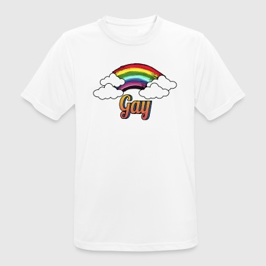 Gay Men Gay Love Love Rainbow - Camiseta hombre transpirable
