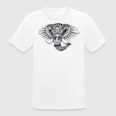 Ornement Elephant Dessin - T-shirt respirant Homme