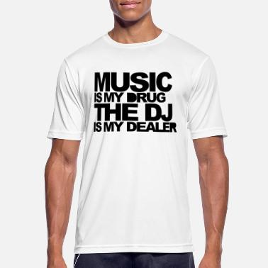 Ecstasy Music Is My Drug 3 EDM Quote - Men's Breathable T-Shirt