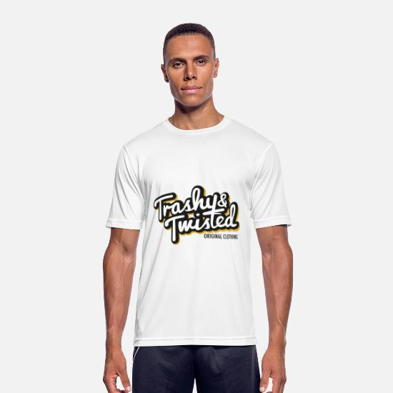 Twisted T-Shirts - Trashy and Twisted - Men's Sport T-Shirt white