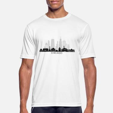 Chicago CHICAGO Illinois USA Skyline City - Sports T-shirt mænd