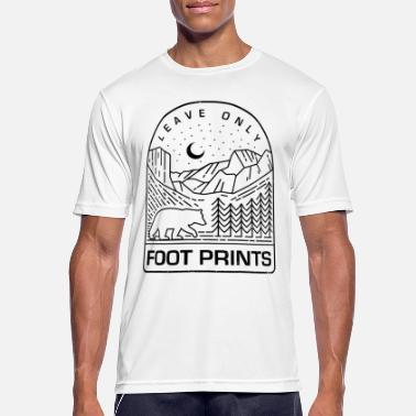 Nationaal Park Nationaal Park Shirt Leave Only Foot Prints Mountains Tee - mannen T-shirt ademend