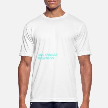 Lung Cancer I Wear White Lung Cancer Awareness - Men's Breathable T-Shirt