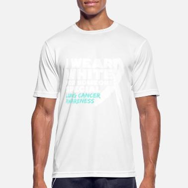 Fuck Cancer Kläder Jag ha vit Lung Cancer Awareness - Andningsaktiv T-shirt herr