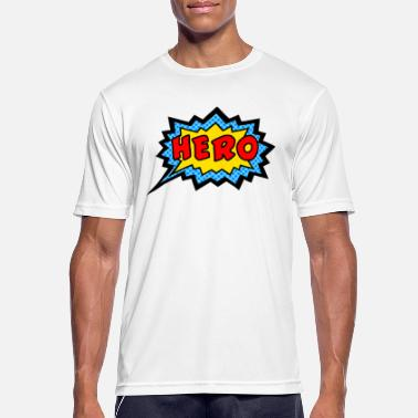 Scifi Comic, Hero, Speech Bubble, Superhero, Cartoon - Mannen sport T-shirt