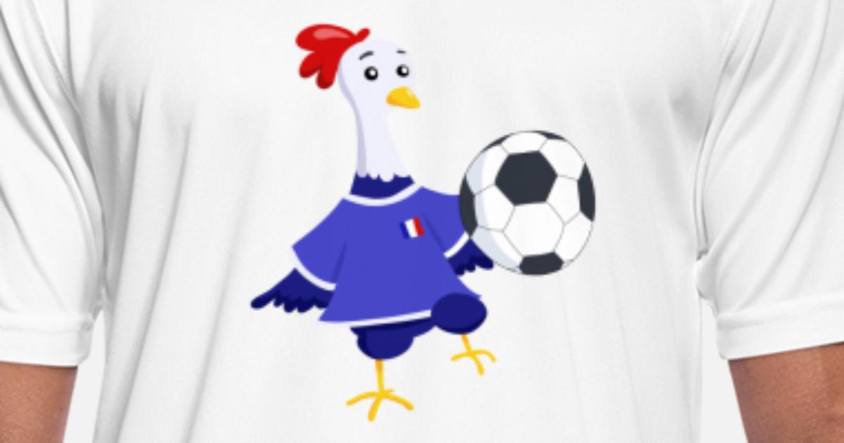 6b1f3e1ddd53f Coq français foot T-shirt sport Homme   Spreadshirt