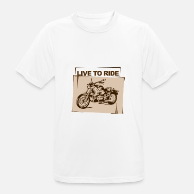 Speedometre Motorcycle: Live To Ride - Men's Breathable T-Shirt