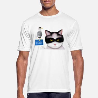 MOIN says the masked cat & the masked seagull - Men's Sport T-Shirt