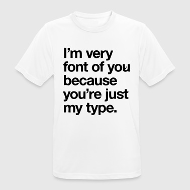 YOU'RE JOKE JUST MY TYPO - GRAPHIC DESIGN - Men's Breathable T-Shirt