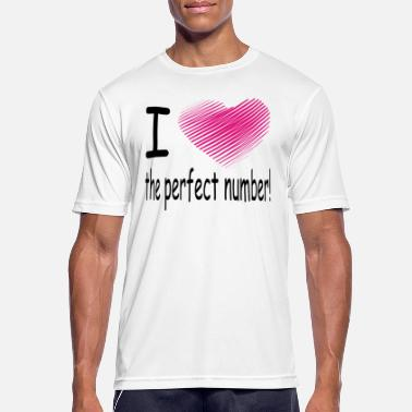 Anmache i love the perfect number - Männer Sport T-Shirt