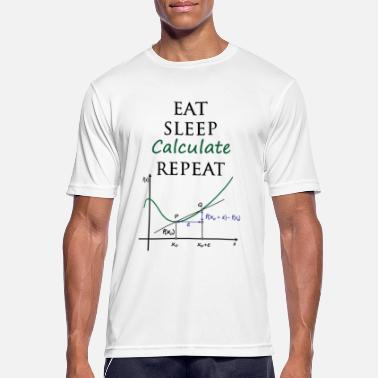 Matematisk Eat Sleep Beräkna repeat - Andningsaktiv T-shirt herr