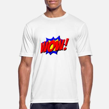 Wow Wow comic - Sport T-shirt herr