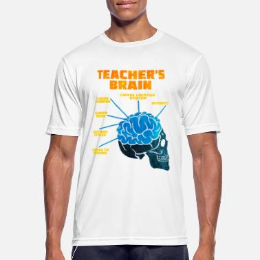 Brain Teacher Teaching Lecturer School Teacher Brain Gift - Men's Sport T-Shirt