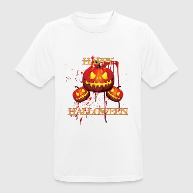 Spirit halloween - scary shirt with pumpkin - Happy - Men's Breathable T-Shirt