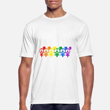 Regnbueflag LGBT Gay Lesbian Peace Pride Rights Gift - Sports T-shirt mænd