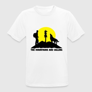 Hikingoman - The mountains are calling - Andningsaktiv T-shirt herr
