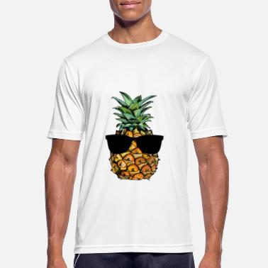 Hipster Hipster pineapple with sunglasses - funny design - Men's Sport T-Shirt