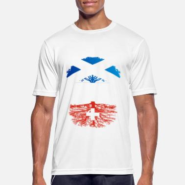 Scottish Roots Scottish Grown With Swiss Roots - Men's Breathable T-Shirt