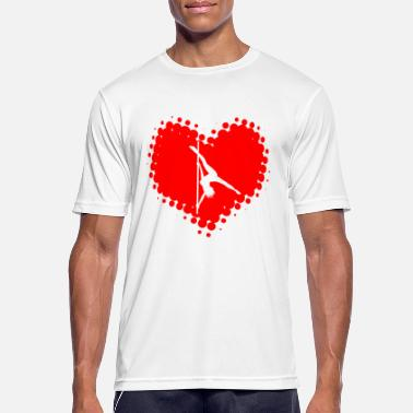 Erotic Heart I Love Pole Dance - Dancing Poledance Striptease - Men's Breathable T-Shirt