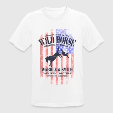 Wild Horse Rodeo - USA Vintage Flag - Men's Breathable T-Shirt