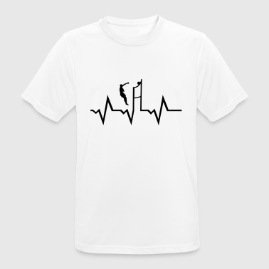 Volleyball Player & Heartbeat - Camiseta hombre transpirable