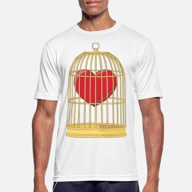 Cage CAGED HEART - HEART IN THE CAGE - Men's Sport T-Shirt