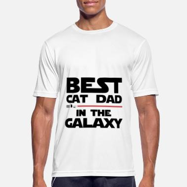 Lightsaber Best cat dad of the galaxy - Men's Sport T-Shirt