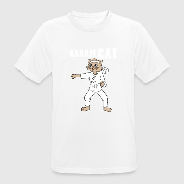 Cat Food Karate cat is fighting for food - Men's Breathable T-Shirt