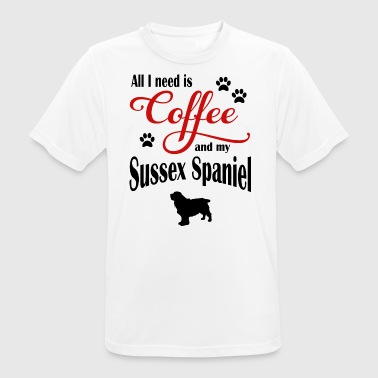 Sussex Spaniel Coffee - Men's Breathable T-Shirt