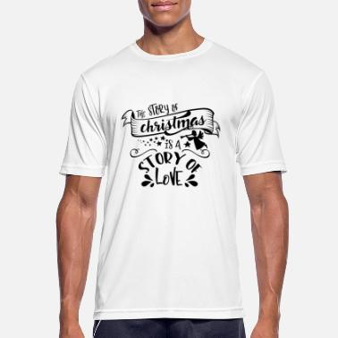 Stories The story of Christmas is a story of love - Men's Breathable T-Shirt