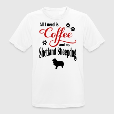 Shetland Sheepdog Coffee - Men's Breathable T-Shirt
