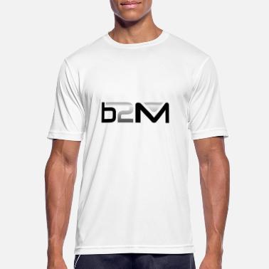 91692e973d1a B2M sort og sølv - Sports T-shirt mænd