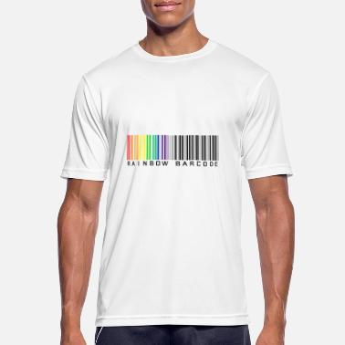 Rainbow Barcode Rainbow barcode - Men's Breathable T-Shirt