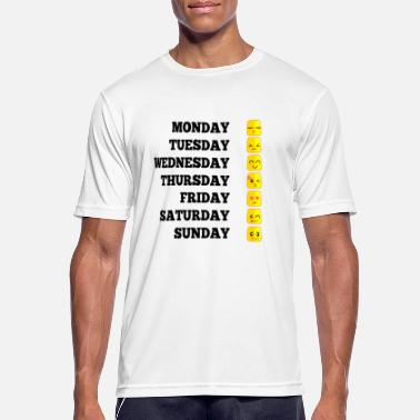 0312410a Days Of The Week Emojis funny week gift mood motivation - Men's. Men's  Sport T-Shirt. Emojis funny week gift mood motivation