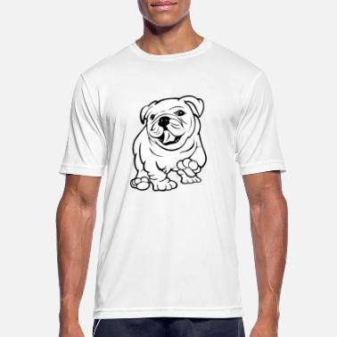 Zip Happy Bull Dog Puppy - Men's Sport T-Shirt