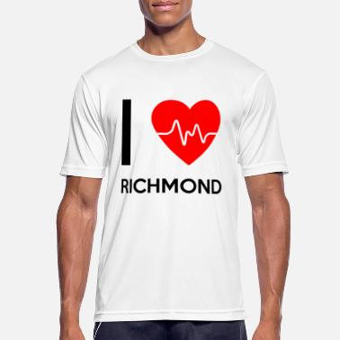 Richmond I Love Richmond - Jeg elsker Richmond - Sports T-shirt mænd