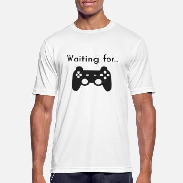 Waiting Computer Waiting for gaming - Men's Breathable T-Shirt
