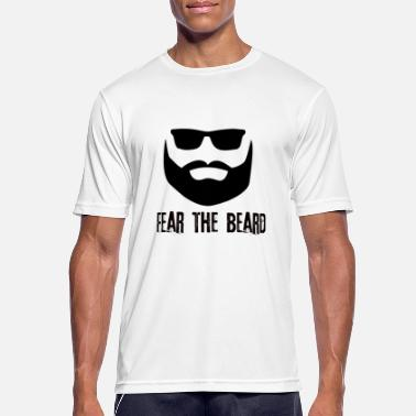 Strong Beard man scared strong hipster guy - Men's Sport T-Shirt