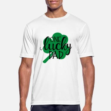 Daddies one lucky dad - Best dad - T-shirt sport Homme