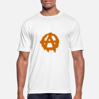 Gangster Anarchie symbool - Mannen sport T-shirt