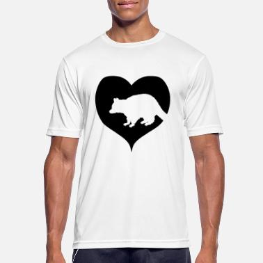 Ecofriendly Raccoon with heart black - Men's Sport T-Shirt
